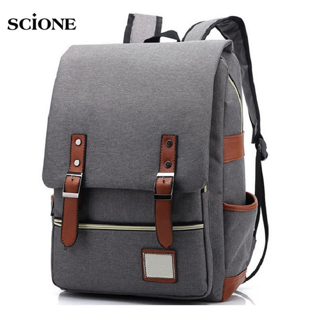 Grey Men Commuter Backpack Blue Waterproof laptop urban backpacks