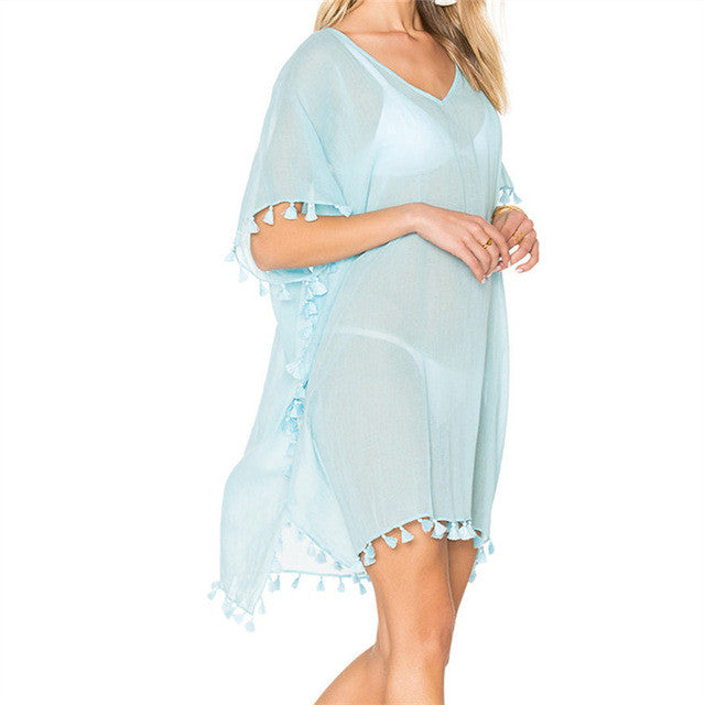 Beach Dress Sexy Cover-Up Chiffon Bikini Kaftan Pareo Sarongs Swimwear