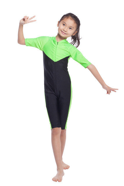 Children Girls One-piece Muslim Swimwear Top Quality Kids Girl Islamic