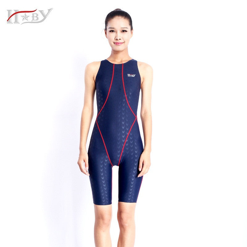 827f8e9bc6 HXBY one piece sharkskin competition racining knee length women – Hard Core  Sports