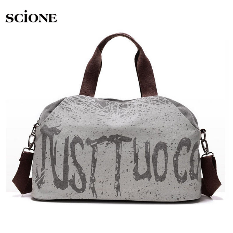 Canvas Letter Printing Handbags Tote Shopping Bag Shoulder Bags