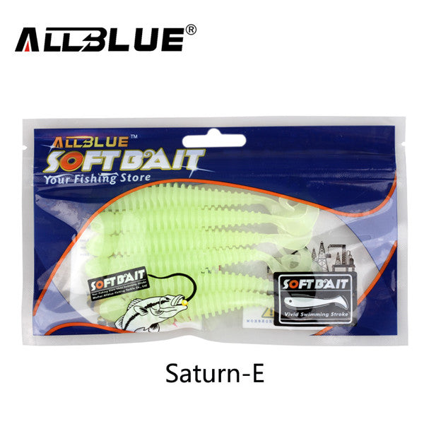 ALLBLUE 6pcs/lot Soft Bait Saturn Worm 9g 10.5cm Flexible Curly Tail