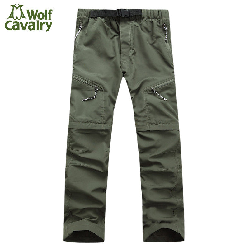 CavalryWalf Waterproof Detachable Hiking Pants Men Mountain Climbing