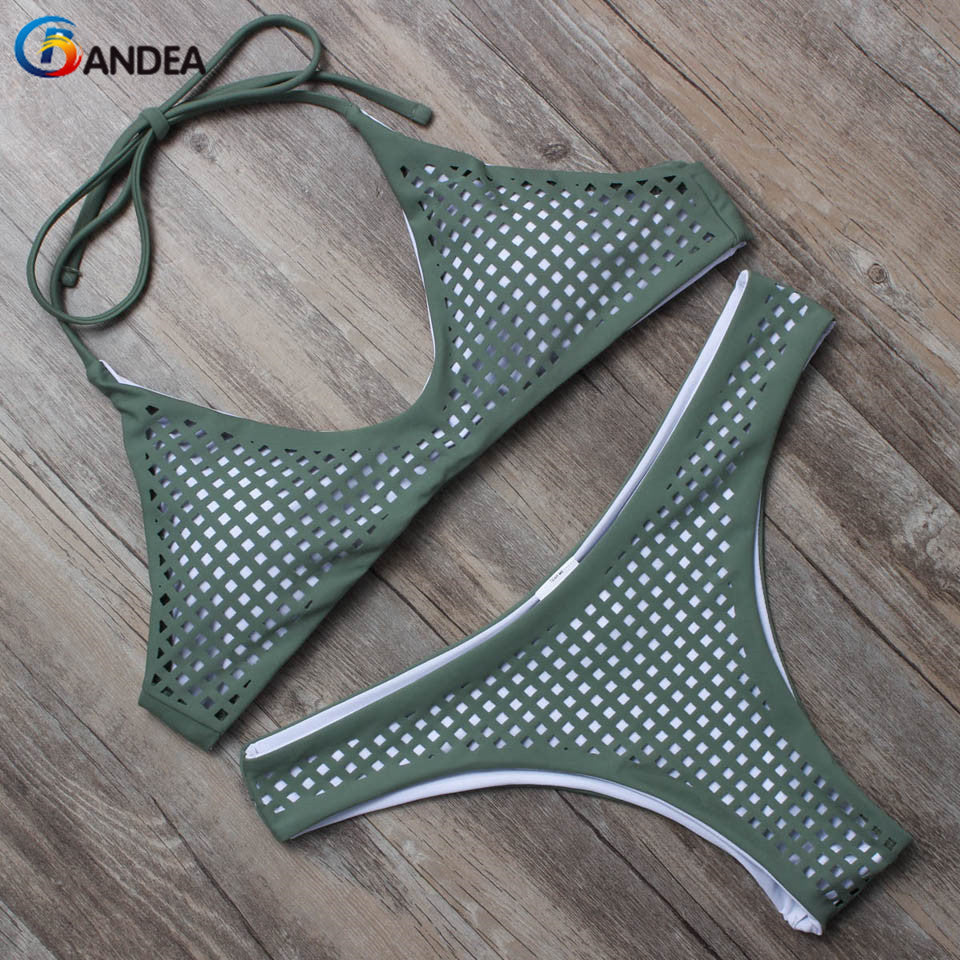 BANDEA summer swimwear women 2017 hollow out bikini low waist swimsuit