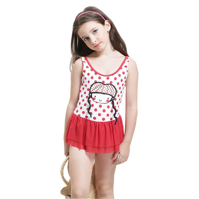 Children Girls Swimwear 2017 Kids One Piece Swimsuit Girls Swimsuit
