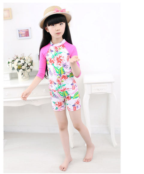MANYIER Lovely Girls Swimsuit Children Camo Swimming Clothes Cute Kids