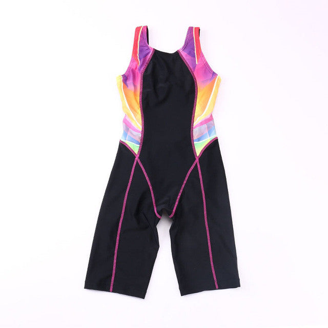 Children Quick Drying Swimwear Girls Competition Bodysuits