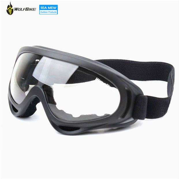 WOLFBIKE Black frame Adult Snowmobile Ski goggles Protective Glasses