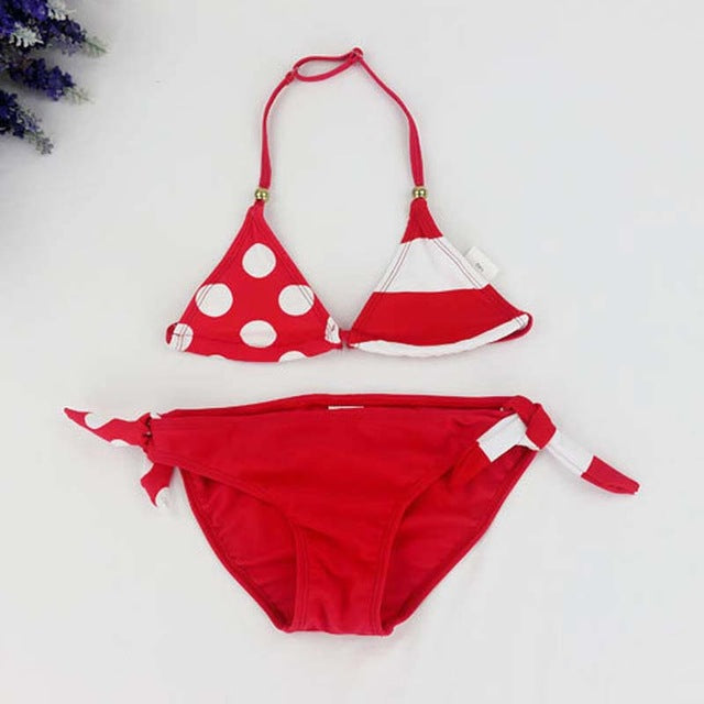 2017 Children's Swimwear Cute Bikini Girls Swimwear Split Two Pieces