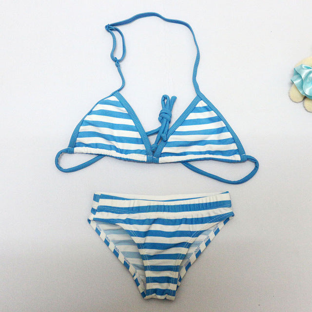 2017 New Summer Girls Split Two-pieces Swimwear Girls Close-fitting