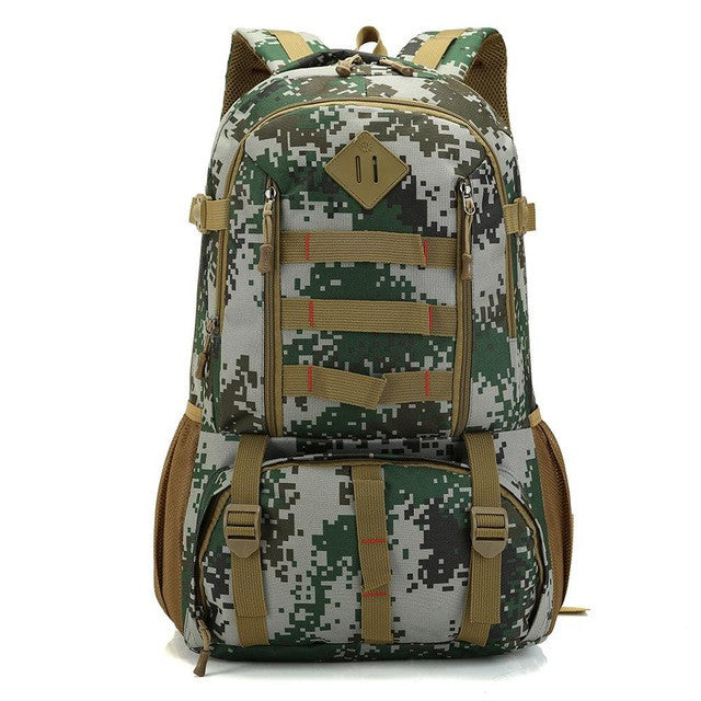 Bucbon Camo Tactical Backpack Military Army Mochila 50L Waterproof