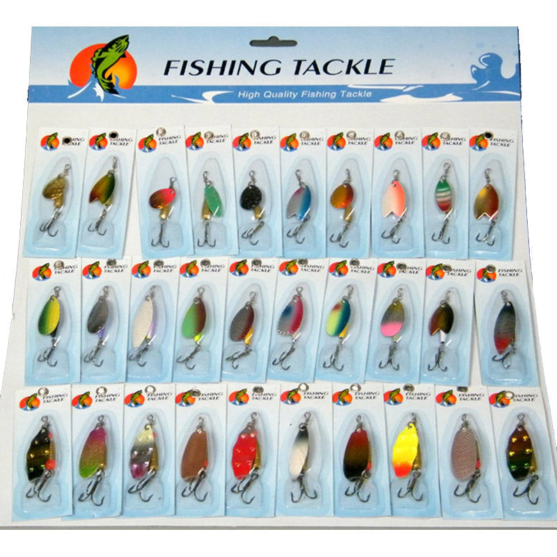 30 Pcs/set Assorted Fishing Lures Wobblers Crankbaits Laser Spinners