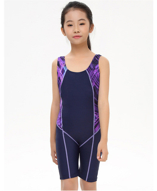 Children Quick Drying Swimwear Girls Competition Swimsuit Body Suits