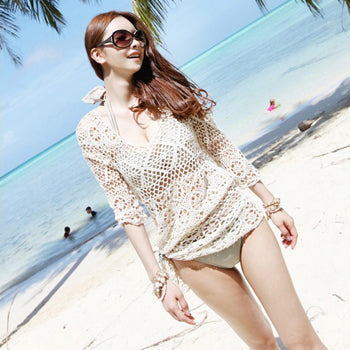 Beach Tunic Sexy Swimwear Cover Up For Women Beach Cover Ups Crochet