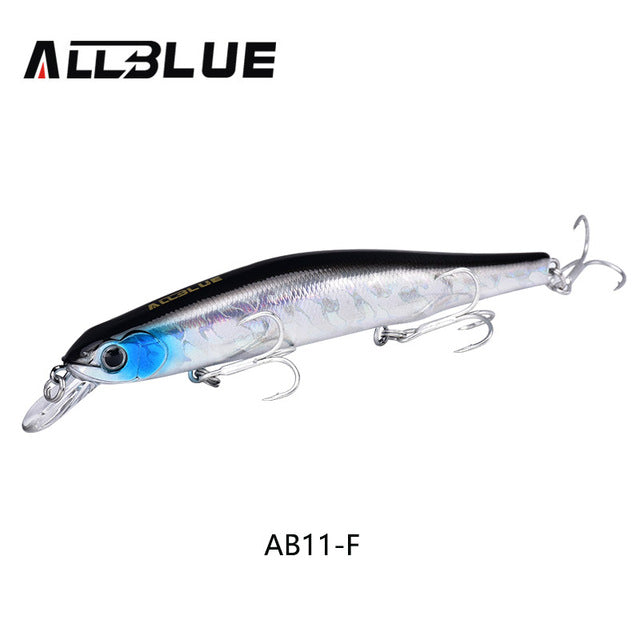 ALLBLUE Best Quality Fishing Wobbler 17.5g/110mm Suspend Minnow Pike