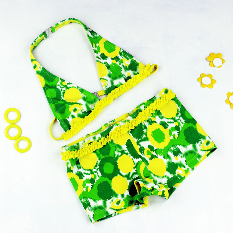 Cute Baby  Swimwear Girl 2 Pieces Baby Bikini set Kids Swimming suit