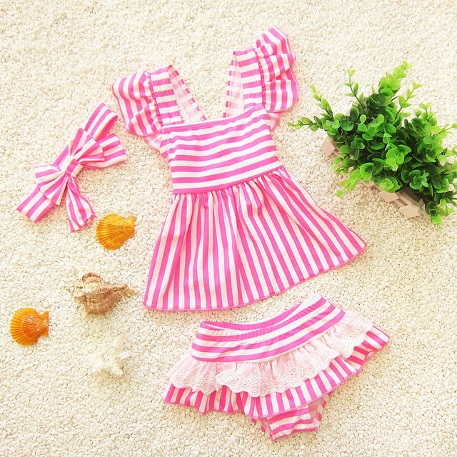 2017 Bikinis of Gilrs Children Girls Swimsuit Two-Pieces Children's
