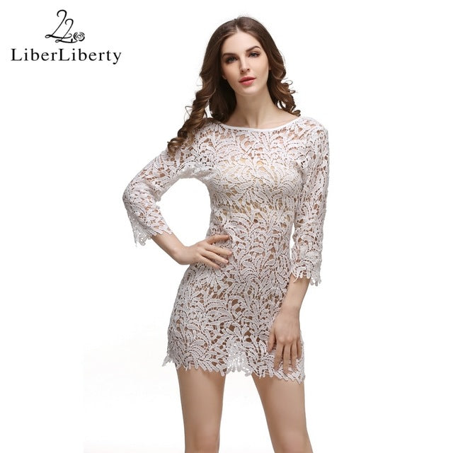 2017 Beach Crochet Cover Up for Women Floral Hollow Lace Bikini