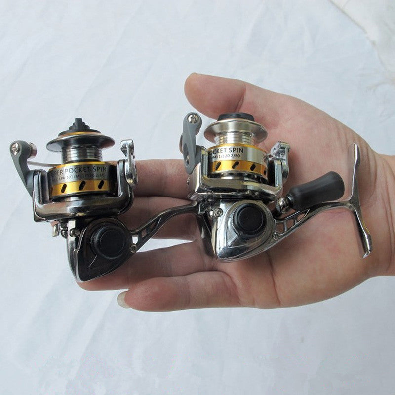 Free Shipping world Smallest Full Metal Mini Ice Lure Fishing Reels