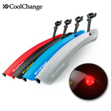 CoolChange Flectional Bike MTB Front Rear LED Mudguard Set 26 Bike