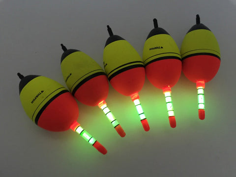 NEW !! 5 Piece 15g EVA float + 10pcs Glow stick Night Bobber Fishing Floats Tube Luminous Lighting Foam Floats