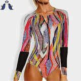 swimsuit women one piece swimsuit  long sleeve Plus Size swimwear women sexy Swimwear one piece bathing suits swimming suit