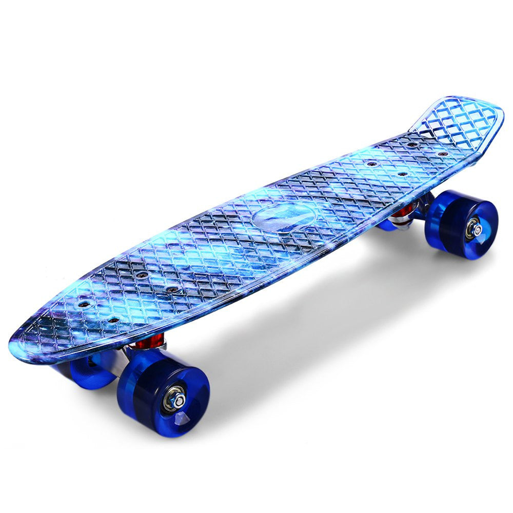 CL-94 22 Inch Blue Starry Sky Pattern Retro Skateboard Complete Dragon