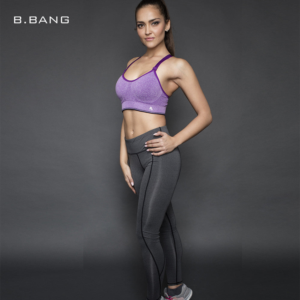B.BANG Women Yoga Sports Bra Fitness Workout Gym Sportswear Bras