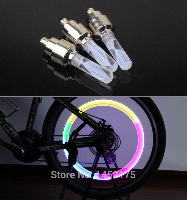 bike lights mtb mountain road bike bicycle lights LEDS Tyre Tire Valve