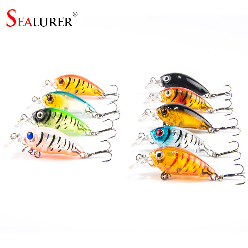 9pcs/lot Mini Crazy Wobble pesca Crankbait Hard Crank Bait Tackle