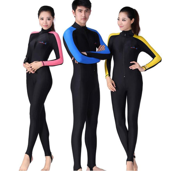 Free Shipping Conjoined long-sleeved Diving clothes prevented bask in jellyfish garment snorkeling bathing suit Swimming suit