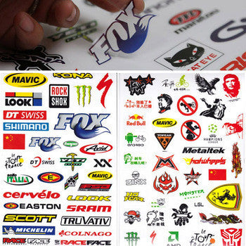 Hot Outdoor Bicycle Cycling Sticker Mountain Bike Skateboard Decal