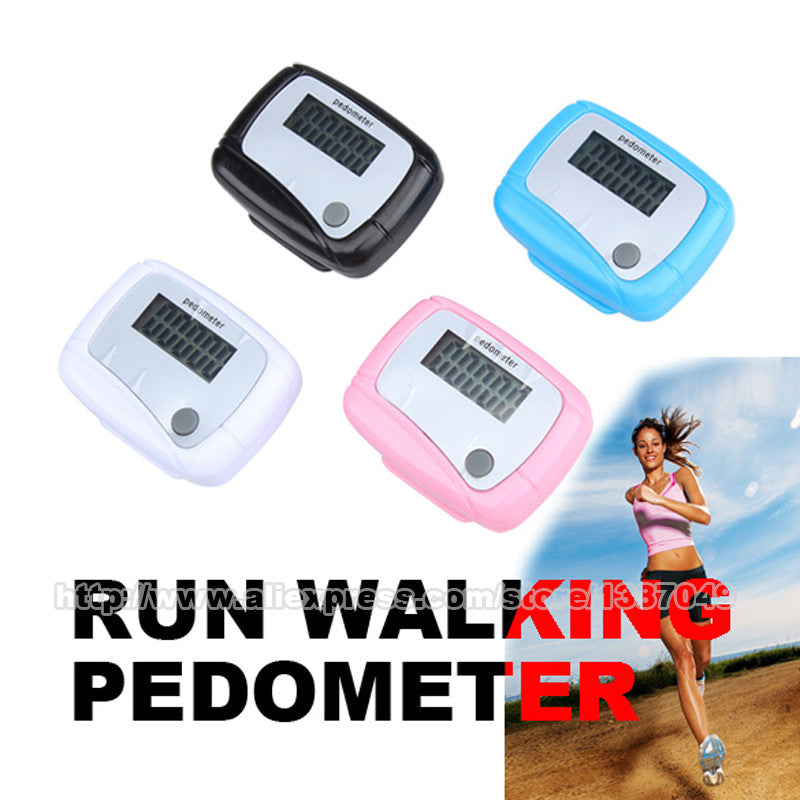 Digital LCD Display Pedometer Design Fitness Run Step Walking Distance