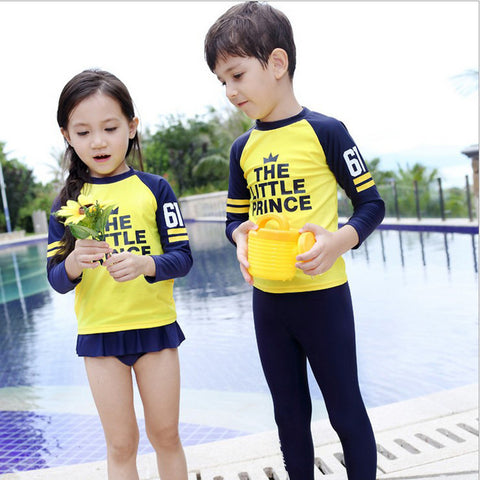 swimsuit boy girls long sleeve bathing suit 2016 girl swimsuit boys child swimsuit with a skirt split or pants kids sunscreen