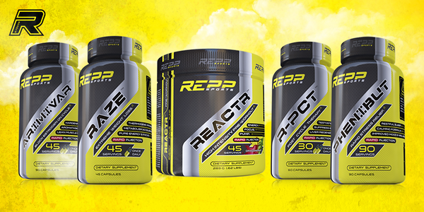 REPP Sports' entire line of supplements NOW AVAILABLE!