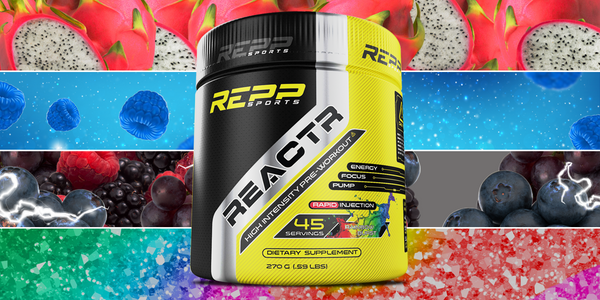 REPP confirms 4 flavors for its DMHA pre-workout Reactr