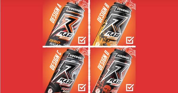 Raze Energy Voodoo Win's New Limited Edition Flavor Name; Pick The Can Design!