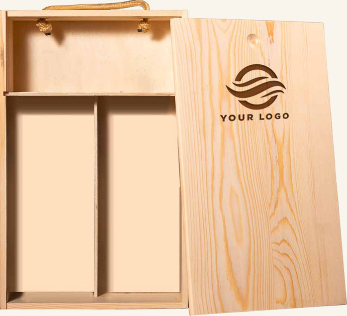 Wood Gift Boxes (10) Imprinted with Your Logo