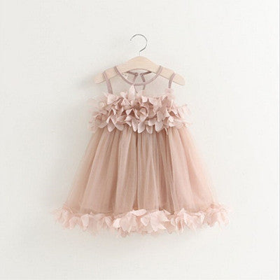 Summer Mesh Vest Girls Dress Baby Girl Princess Dress Fashion