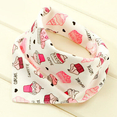 Baby bibs High quality triangl double layers cotton baberos Cartoon