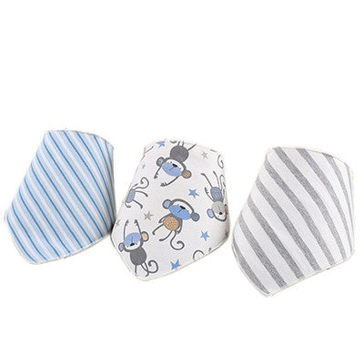 Newly Baby Bibs 3pcs/lot Baby Bibs Bandana100% Cotton Babadores Infant