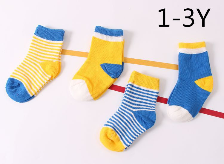 Baby Cotton Socks Toddlers Boys Girls Spring Autumn Socks Stripes &