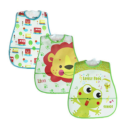 Baby Bibs Waterproof 3 Pieces/lot Lunch Bibs Infant Burp Cloths 2016