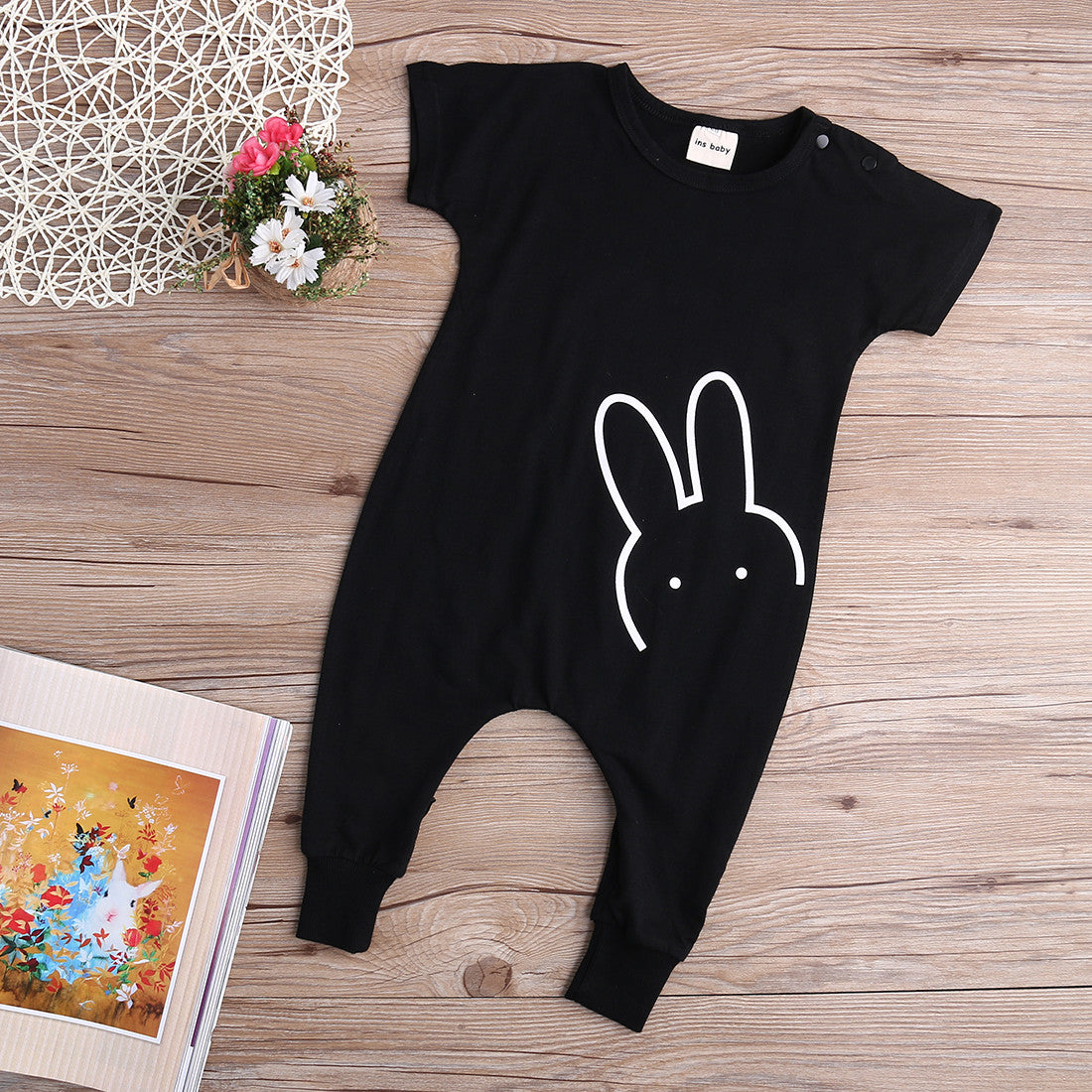 Baby Boys Girls Romper 2016 New Fashion Rabbit Short Sleeve Toddle