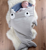 shark sleeping bag Newborns sleeping bag Winter Strollers Bed Swaddle Blanket Wrap cute Bedding baby sleeping bag BaBy
