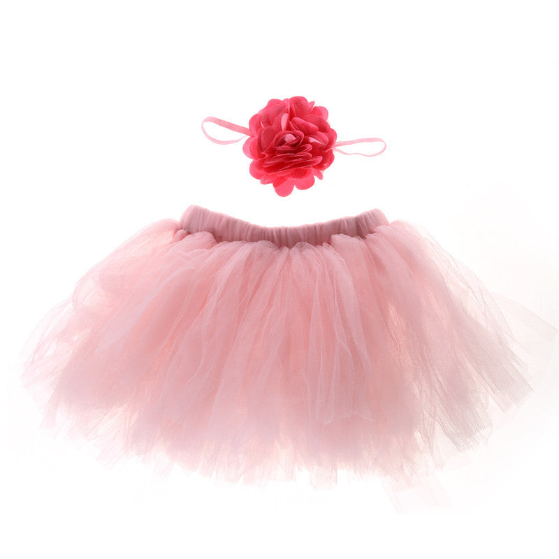 9 Colors Newborn Baby Photography Props Flower Tire Girls Dress