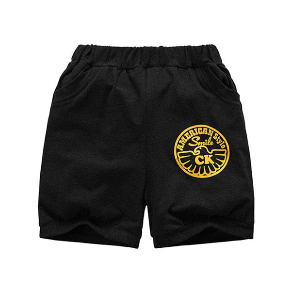 Active Children Boys Shorts Kids Boy Striped Clothes Number Letter