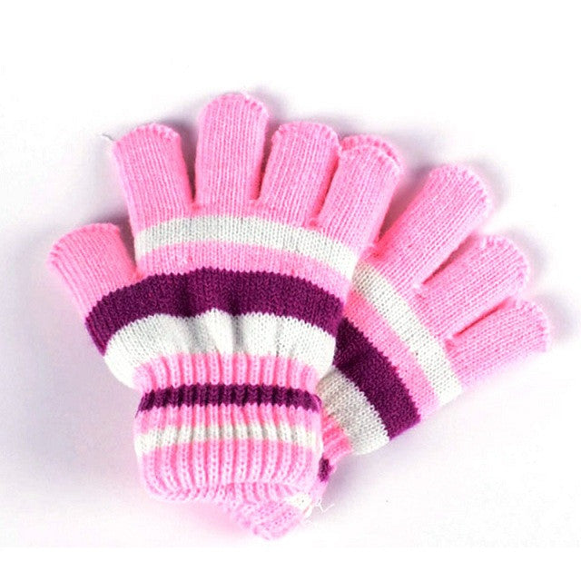 New Baby Cotton Gloves Striped Autumn Winter Warm Comfortable Baby