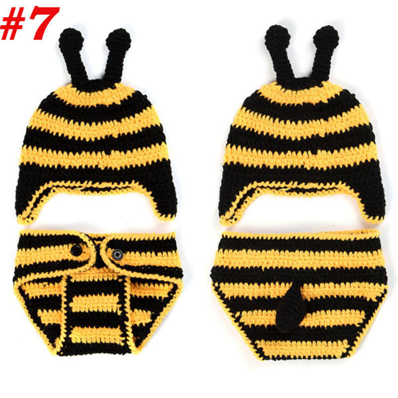 Baby Newborn Photography Props Costume Toddler Animal Beanie with