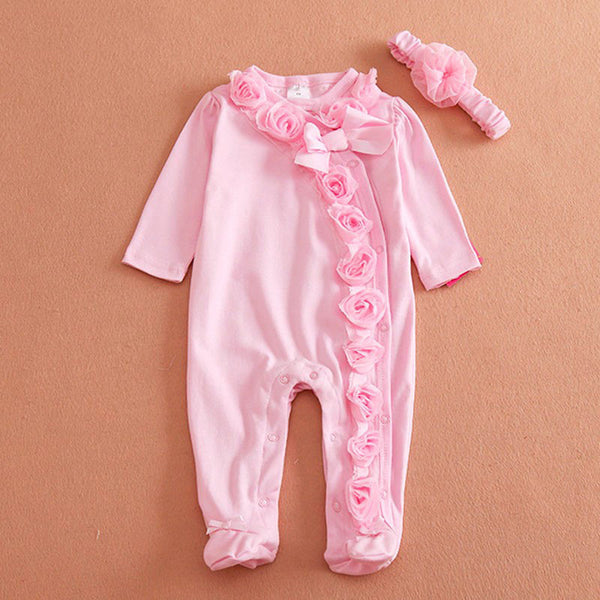 Retail Spring/Autumn Baby Girl Clothes,New Born Baby Girl Romper,Baby Jumpsuit ,Infant Clothes, Children Clothing